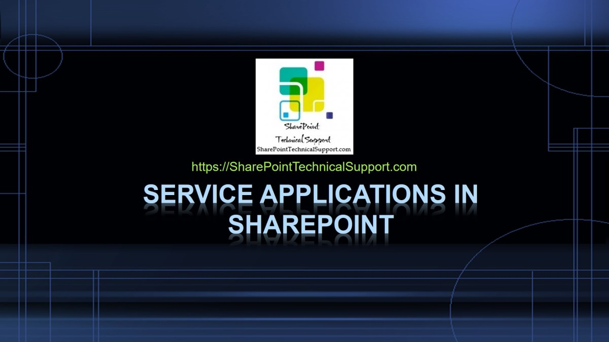 Service Applications in SharePoint